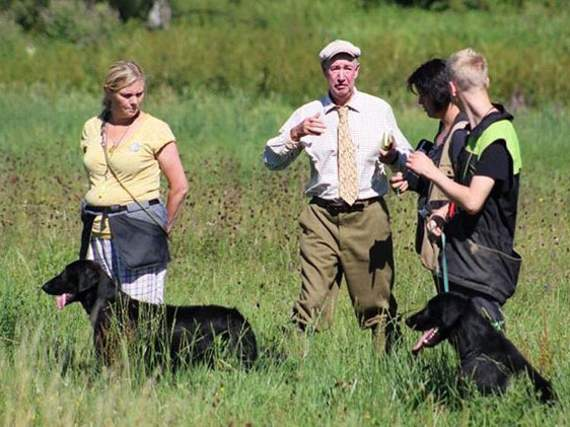 Gundog trainer Mike Larkin about in Czech Republic