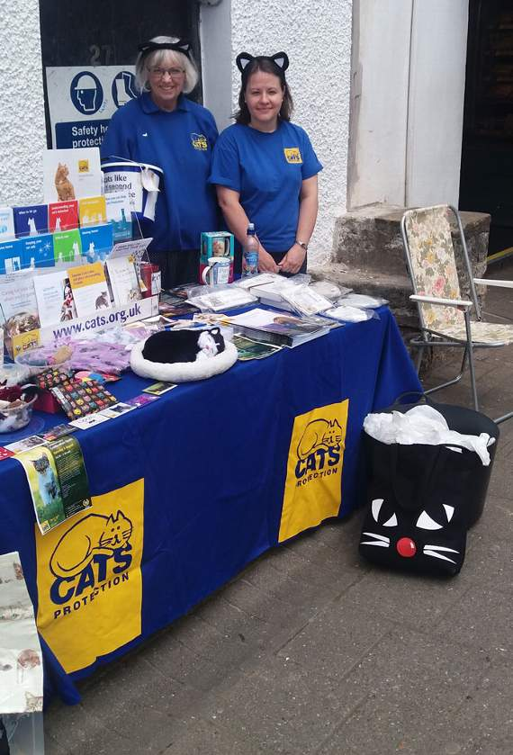 'Thank you' from Cats Protection volunteers