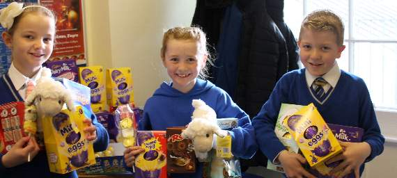 St Clare's pupils' Easter treats for children's hospice
