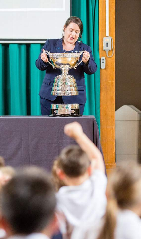 Porthcawl pupils inspired by historic golfing silverware