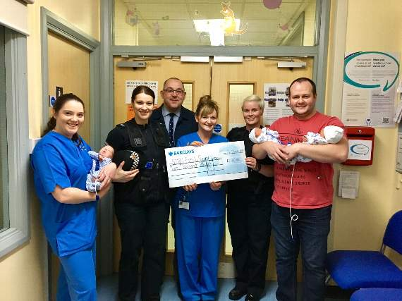 Police officers donate £2,000 to local special care baby unit