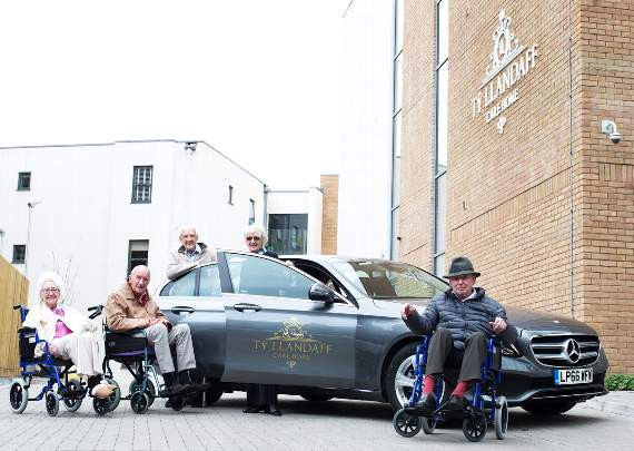 Mercedes-Benz delivered to top Cardiff care home