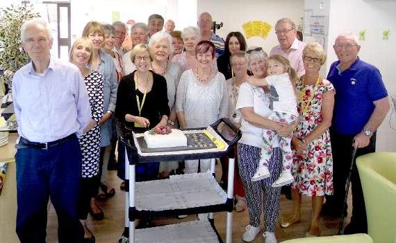 Marie Curie's 'thank you' party for volunteers