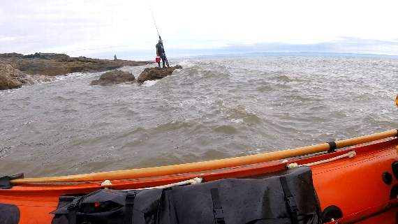 Fisherman rescued after BST tide time mix-up