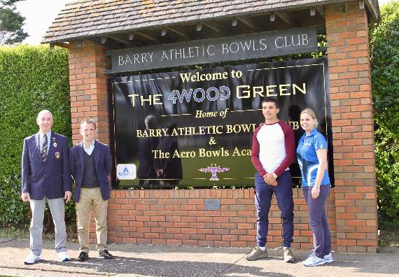New green opened at Barry Athletic Bowls Club